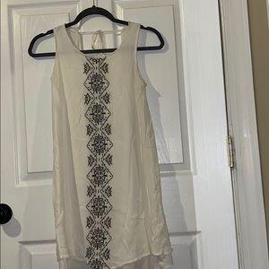 White & Black Summer Dress